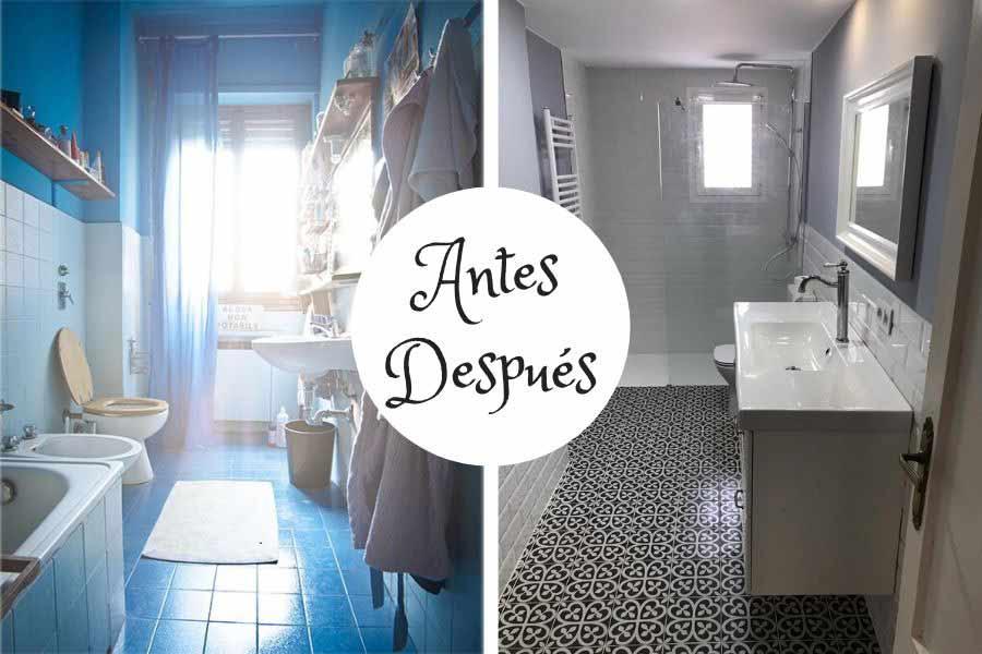 Reforma de un baño estilo nórdico (antes y después)
